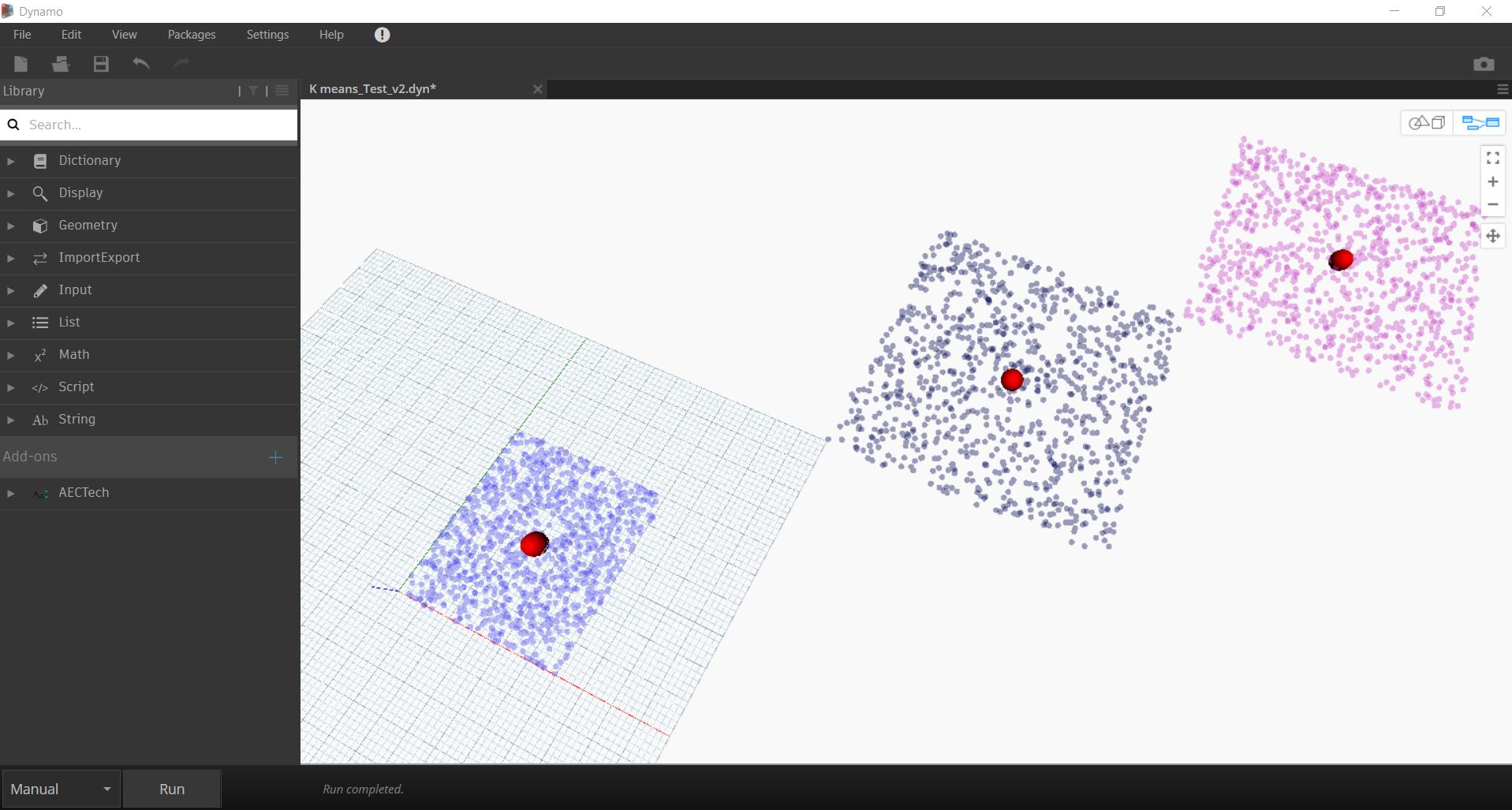 K-Means Clustering Algorithm in Dynamo